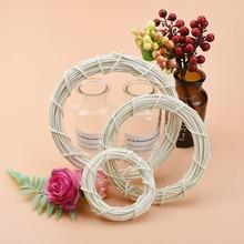 Wall-Pendant Flower-Wreaths Christmas-Garland Rattan Wedding-Decorative Artificial-Plants