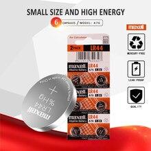 6pcs Para 44 LR44 SR1154 A76 AG13 0% Hg 357 LR Maxell 1.5V Alcalina Célula de bateria Para calculadora 0% Hg
