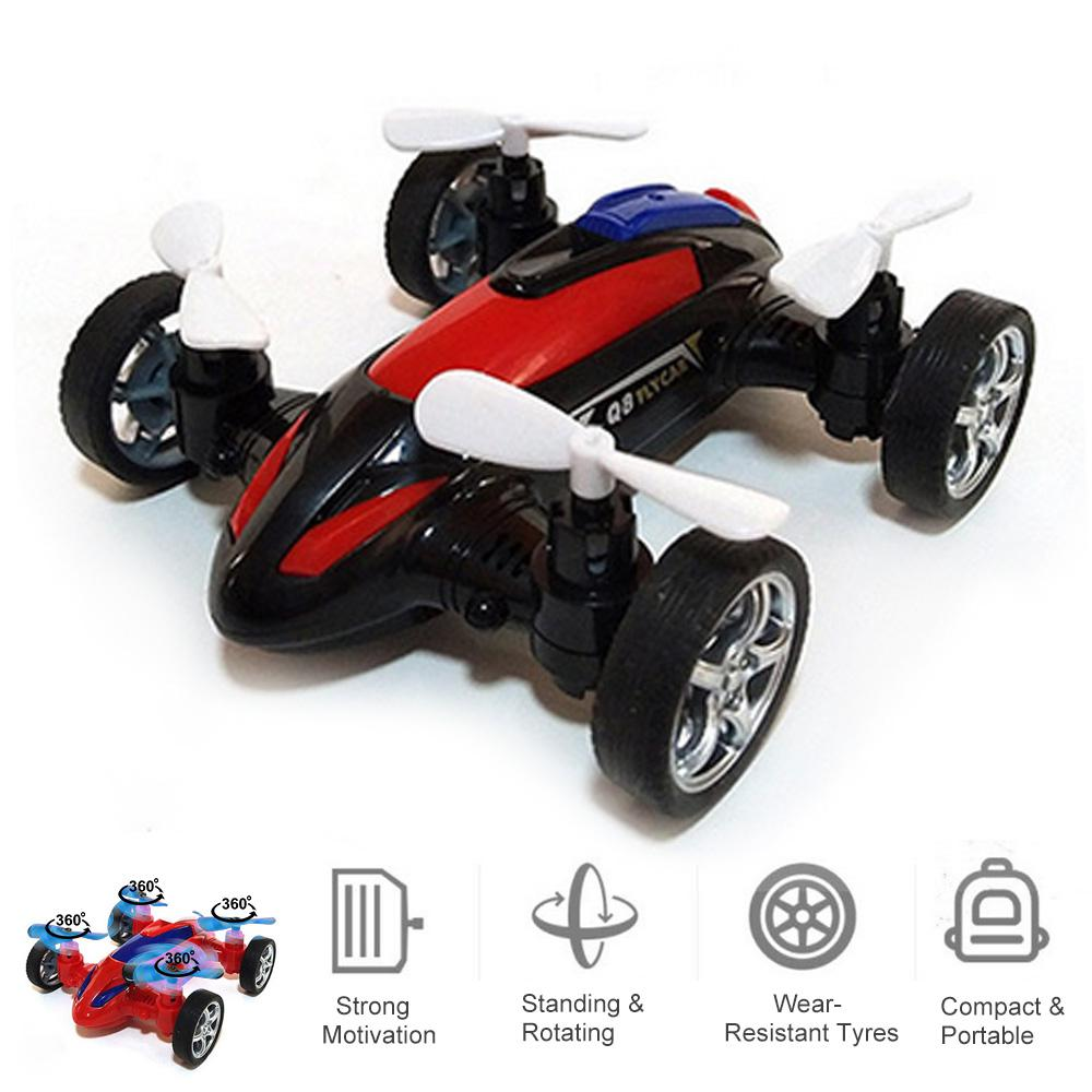 Fly Car Toys Inertia Four-axis Friction Powered Cars Children's Toy Model Vehicle 4-axis Aircraft For Kids Boys Gifts