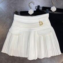 FABPOP 2021 Spring Summer New Arrivals High Waist Short Mini Pleated Skirt Streetwear Women GA309