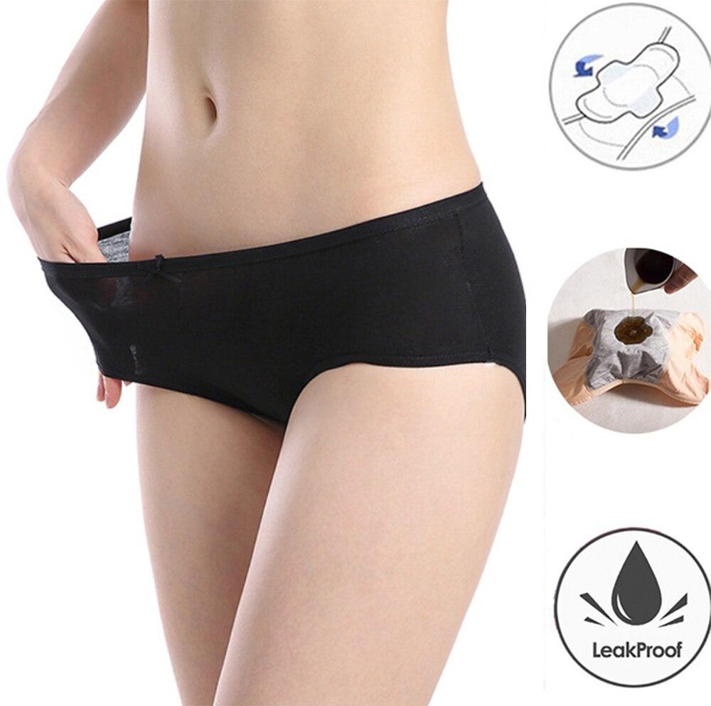 Leak Proof Menstrual Panties Female Physiological Women Underwear Period Cotton Waterproof High Waist Ladies Lengthen Briefs