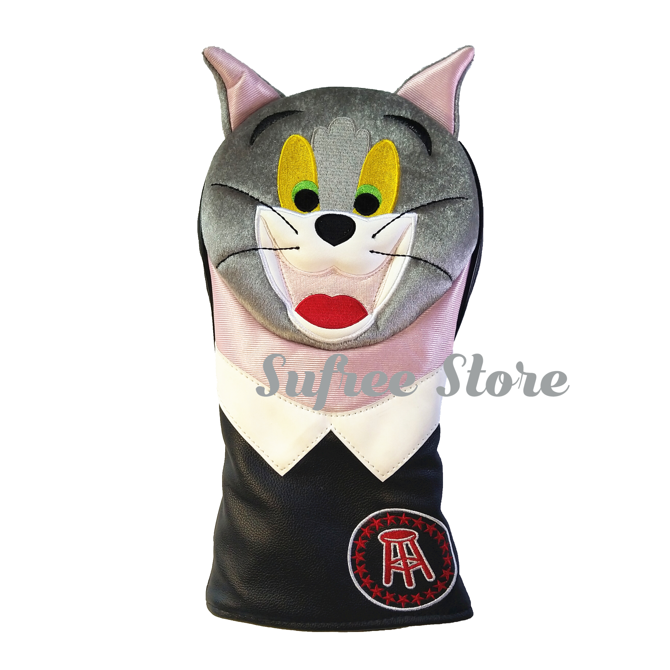 Cute Rabbit Golf Driver Headcover Lady PU Leather Golf Wood Cover Plush Animal Golf Head Cover For 1#