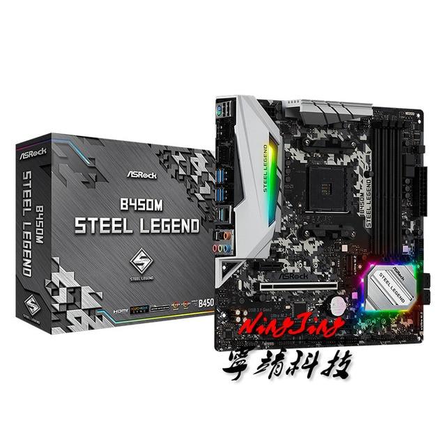ASROCK  B450M STEEL LEGEND Micro ATX AMD B450 DDR4 3466+(OC)MHz M.2 USB3.1 New Max 64G  Double Channel Socket AM4 Motherboard