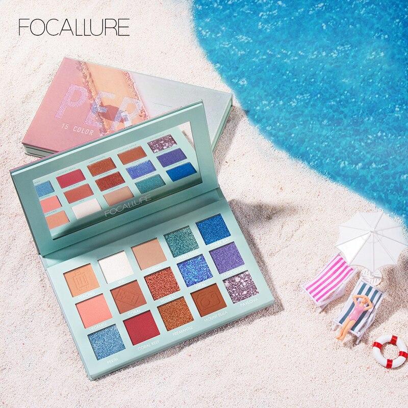 FOCALLURE 2019 Glitter Eye shadow palette professional pigmented powder shimmer eyeshadow pallete New GO TRAVEL palette 1