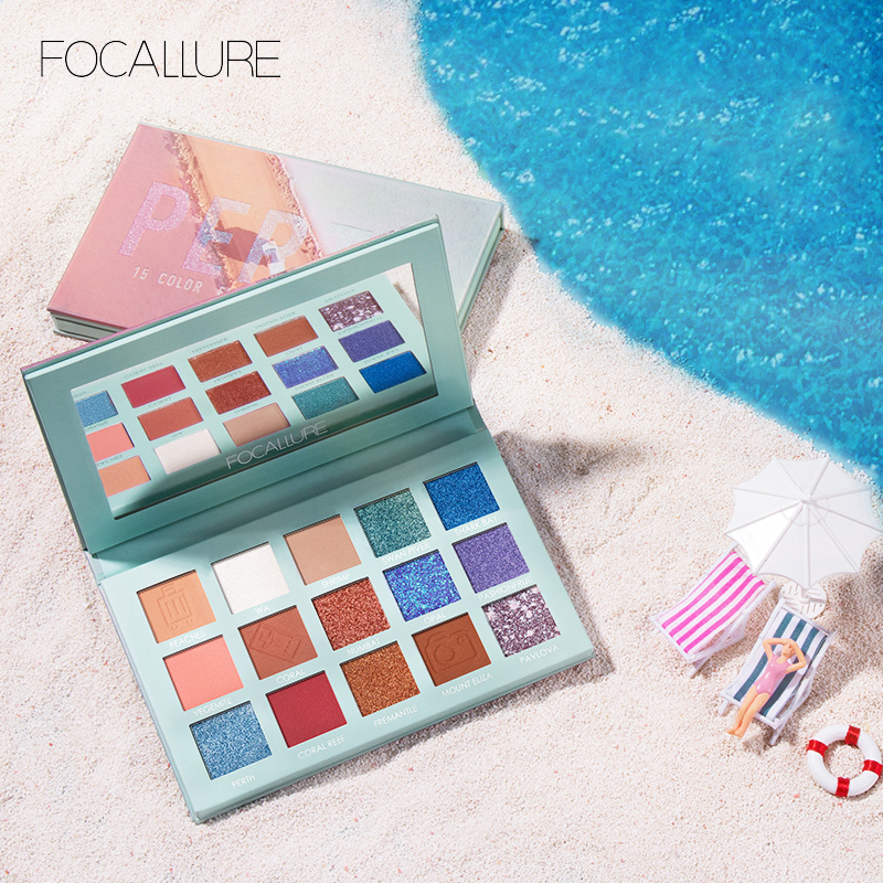 FOCALLURE 2019 Glitter Eye Shadow Palette Professional Pigmented Powder Shimmer Eyeshadow Pallete New GO TRAVEL Palette