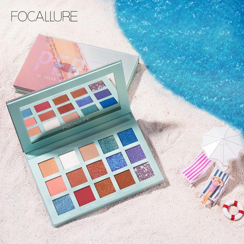 FOCALLURE 2019 Glitter Eye Shadow Palette Professional Pigmented Powder Shimmer Eyeshadow Pallete New GO TRAVEL Palette