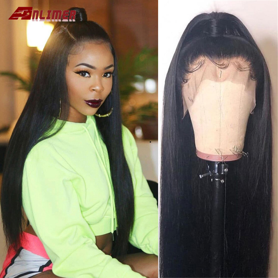 Anlimer Lace Frontal Wig Pre Plucked With Baby Hair Malaysian Silky Straight 13x4 13x6 Lace Front  Remy Human Hair Wigs