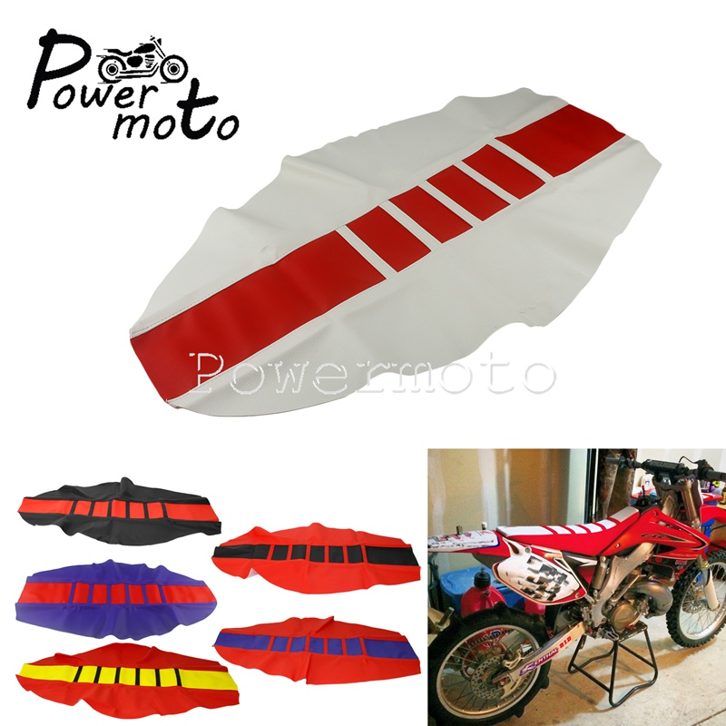 Red For Honda CRF250 CRF450 R/X/L Ribbed Traction MX Enduro Seat Cover Dirt Pit Bike Seat Pad For CRF CR XR 125 250 450 230 150