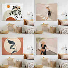 Refreshing Style Tapestry Wall Hanging HD Printing Abstract Art Blanket Living Room Bedroom Dorm Home Decor Tablecloth Picnic
