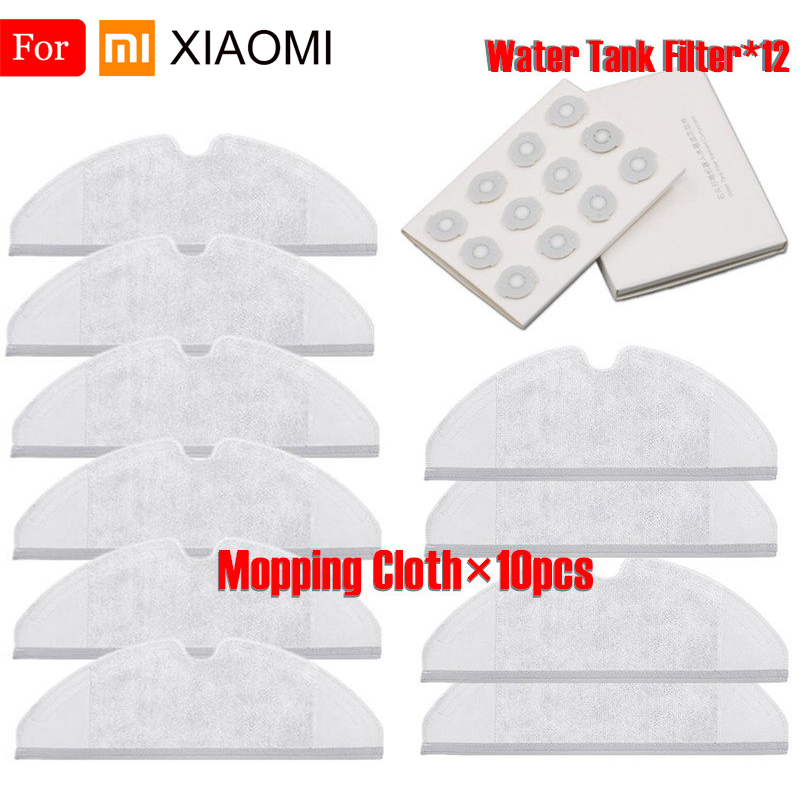 Suitable For XiaoMi Roborock S50 S51 S55 S6 Robot Vacuum Cleaner 2 Spare Parts Kits Mopping Cloth Water Tank Filter Replacemen