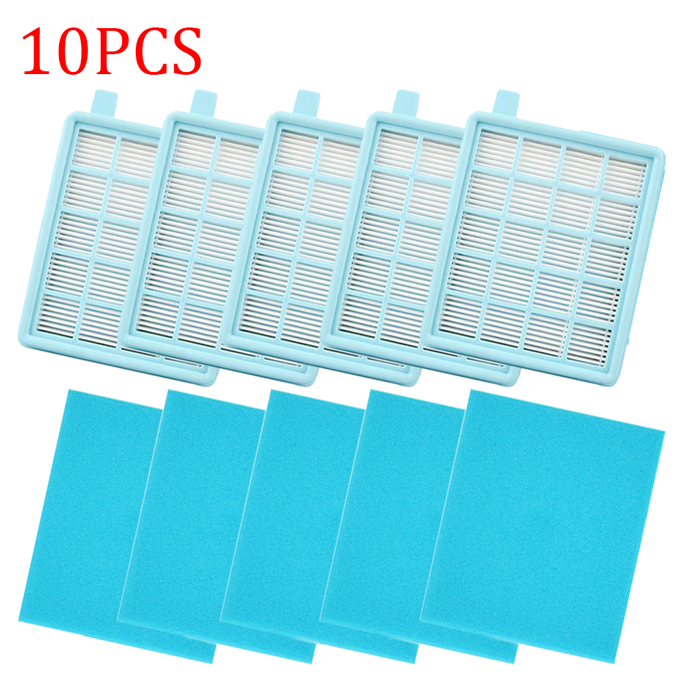 10pcs Hepa Filters For Philips FC8470 FC8471 FC8472 FC8473 FC8474 FC8476 FC8477 Vacuum Cleaner Accessories Parts Repalcement Kit