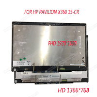 15.6 INCH Laptop lcd touch screen assembly for HP Pavilion x360 15 cr0002ng 15 cr lcd assembly with touch frame bezel
