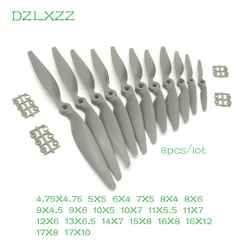 8pcs/lot Nylon Apc Propeller 5X5/6X4/7X6/8X6/9X6/11X7/12X8/15X8/16X8/17X8/17X10 for UAV FPV RC Drone Propeller Kit Prop Parts image