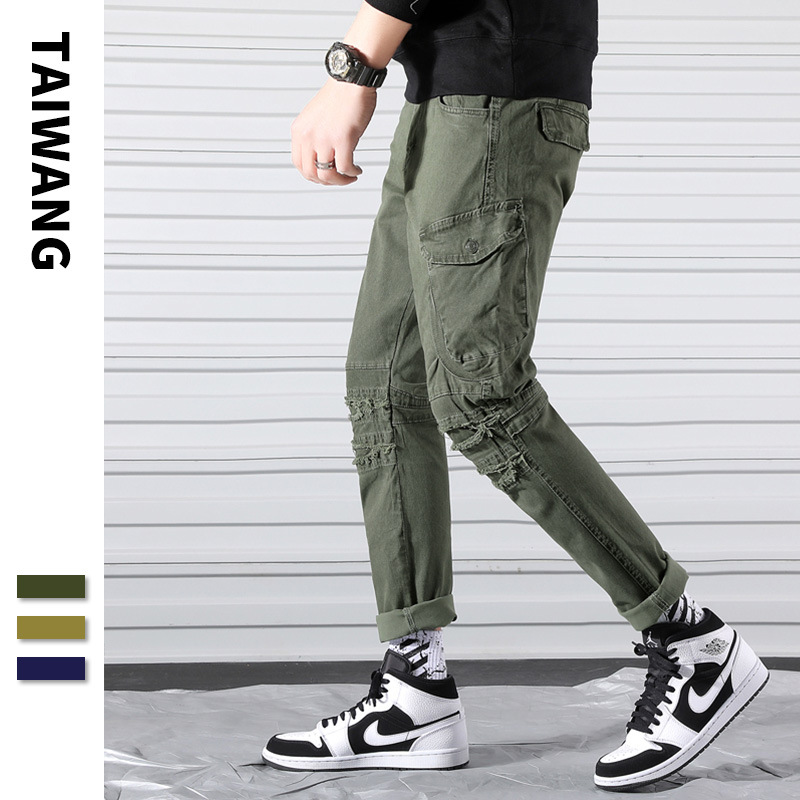 2019 Spring New Style Japanese Style Street Bib Overall Men's Popular Brand Bags Xi Ha Ku Youth Students Trend Ankle Banded Pant