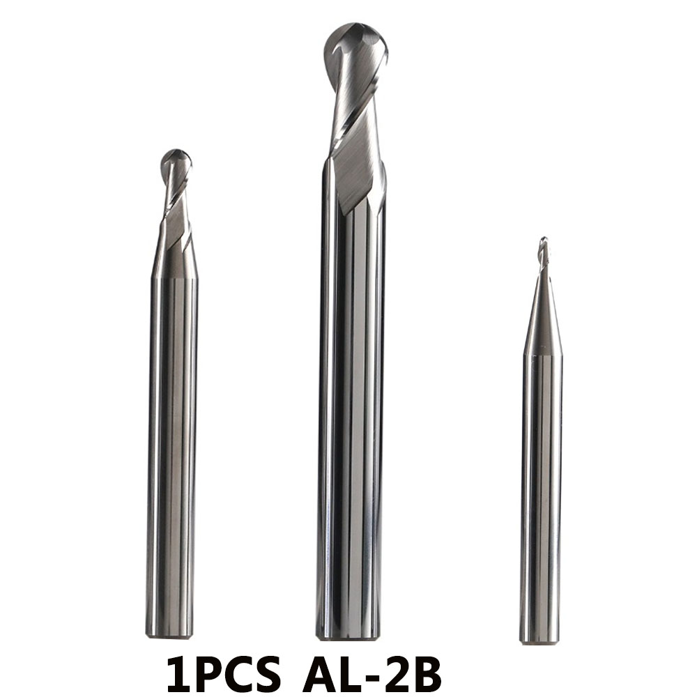 AL-2B Series Solid Tungsten Carbide 2 Flute Ball Nose End Mill Cnc Milling Cutter Cutting Tools For Aluminum Machining Profile