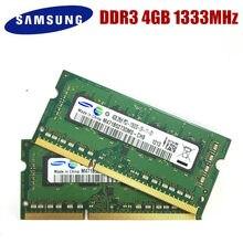 Frete grátis samsung 4gb 2rx8 PC3-10600S ddr3 1333 mhz 4 memória do portátil 4g pc3 10600 s 1333 mhz notebook módulo sodimm ram