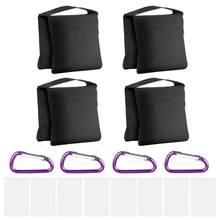 Neewer 4-pack fotografia saco de areia sacos de areia pesados alforje design 4 sacos de peso para estúdio de vídeo foto suporte quintal