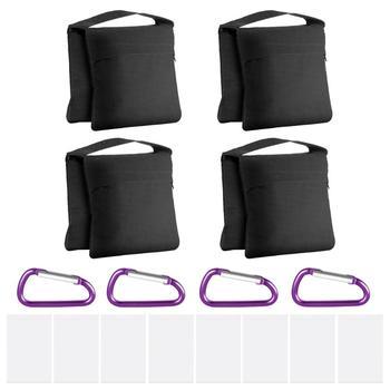 Neewer 4-Pack fotografia Heavy Duty worki z piaskiem worki na piasek Saddlebag Design 4 torby wagi do studio fotograficzne wideo stojak podwórko tanie i dobre opinie 10096352