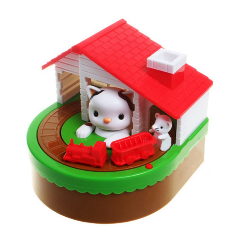 Cute Mouse And Cat Piggy Bank With Music NEW Electronic Coins Saving Box Desk Toy For Kids Birthday Christmas Gift