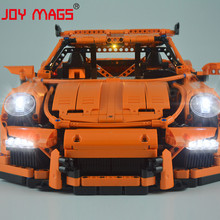 JOY MAGS Only Led Light Kit For 42056 Technic Racing Car Lighting Set Compatible With 20001/38004 (NOT Include Model) цена 2017