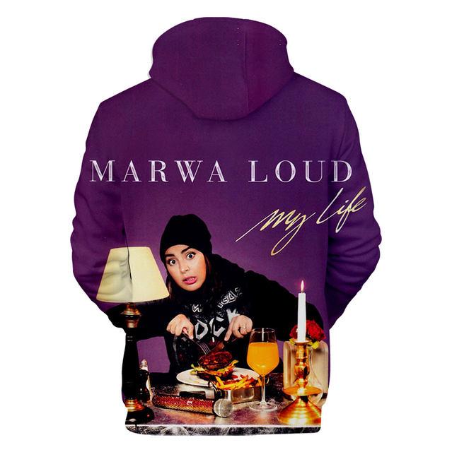 MARWA LOUD THEMED 3D HOODIE (3 VARIAN)