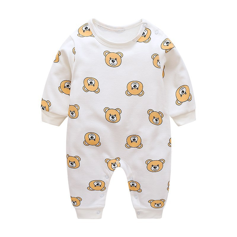 Korean-style Baby GIRL'S Early Autumn Baby Jumpsuits Spring And Autumn 1 A 3-Year-Old Men's Infant Newborns Pajamas Crawling Clo