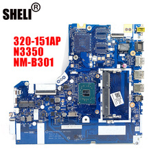 NM-B301 Für Lenovo 320-15IAP notebook motherboard DG424 DG524 NM-B301 motherboard CPU N3350 DDR3 100% test arbeit