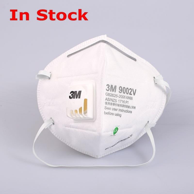 3M 9002V+ Masks PM2.5 KN95 Anti Virus Anti Flu FFP3 Head Band Update Particulate Respirator Dust Mask Breathable Mask
