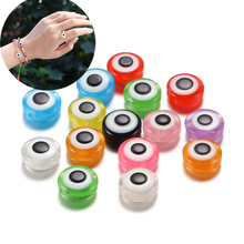 50pcs/Lot 8 10 11 mm Resin Oval Evil Eye Beads Spacer ABS Acrylic Beads For DIY Jewelry Making Findings Accessories Supplies