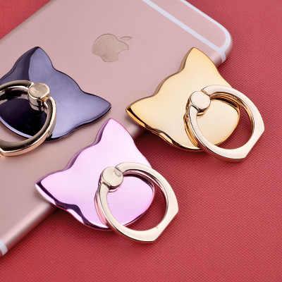 Кошачья голова аксессуары для Кардана держатель мобильного телефона базовое кольцо магнитное для iPhone X 8 Plus смартфон Huawei