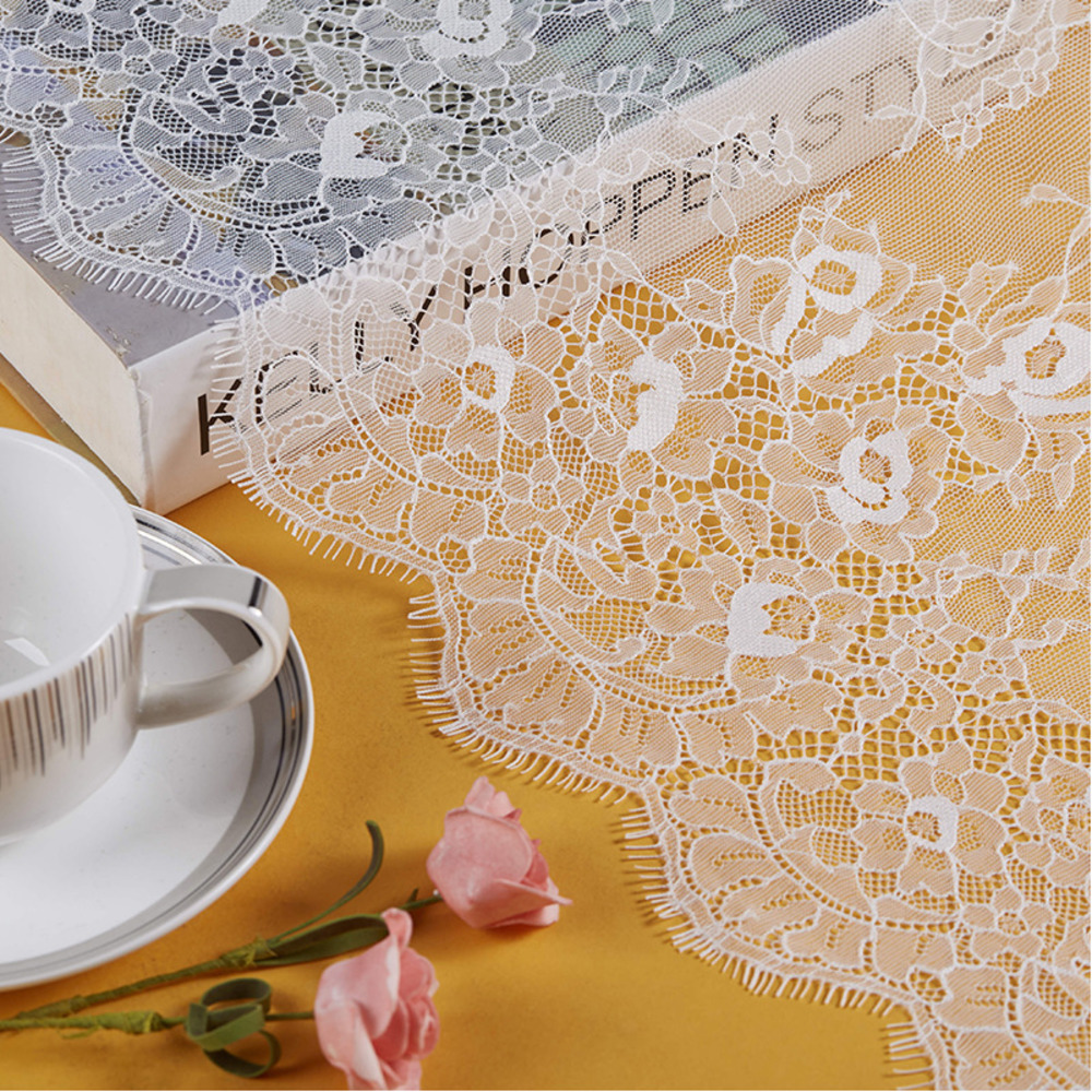 300CM Handmade DIY Clothing Lace Accessories Embroidery White Black Wedding Underwear Sewing Notions Apparel Fabric Width 100CM
