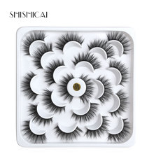10 pairs Natural Faux 3D Mink Eyelashes Extension Soft False Eyelashes for Beauty Makeup Kit Cilios цена и фото