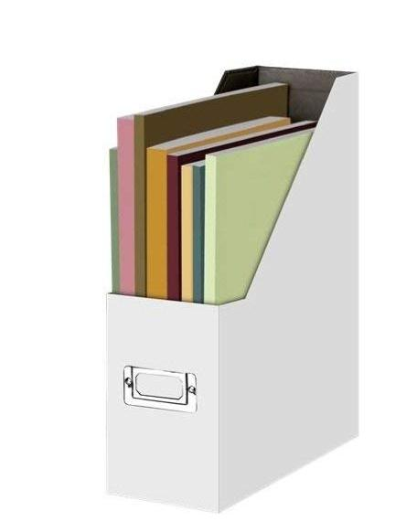 Magazine File, Office Desk Trapezoidal Box Paper Folder Finishing Box Book Ladder Frame Magazine Basket 12.25 X 9.75 X 3.75 Inch