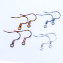 100 шт/лот carven 925 Серебряные медные провода для ушей оптовая