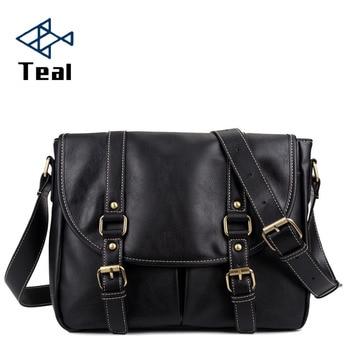 Men Briefcase Shoulder Bags Travel Bag pu Leather Mens Messenger Male Business Vintage Handbag