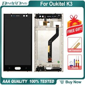 Image 3 - BingYeNing 5,5 pulgadas para Oukitel K3 LCD y Digitalizador de pantalla táctil con marco de pantalla accesorios de teléfono herramientas de repuesto de montaje