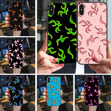Chama fogo fogo fogo fogo estética pintura caso do telefone capa casco para o iphone 5 5S se 2 6s 7 8 12 mini plus x xs xr 11 pro max preto