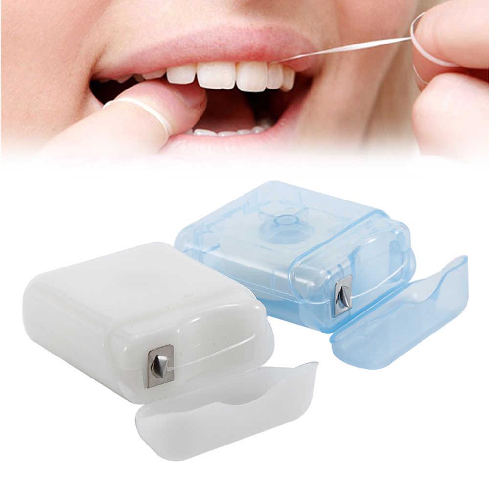 50m Dental poliester pielęgnacja jamy ustnej niezbędna nić dentystyczna opieka stomatologiczna wybór czyszczenia zębów higiena zdrowotna szczoteczka międzyzębowa niciowykałaczka narzędzia