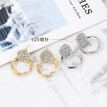 Brinco Boucle D Oreille 2019 Real New Aros Earings Jewelry Needle Earrings Individual Geometry Crystal Classic Geometric Women
