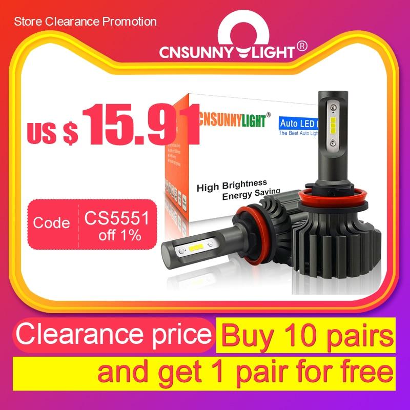 Pair HB3 9005 60W High Power CSP LED Headlight Fog Daytime Running Lights Bulbs