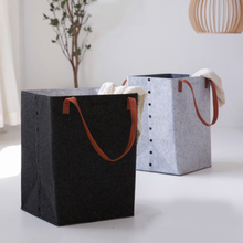 Nordic Felt Laundry Basket Stand Storage Toy Box Super Large Bag Washing Dirty Clothes Big Organizer D35