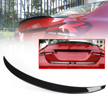 Car Rear Spoiler Trunk Boot Wing Lip Tail Trim For Mercedes Benz 2019 W177 A-Class ABS Plastic Glossy Black
