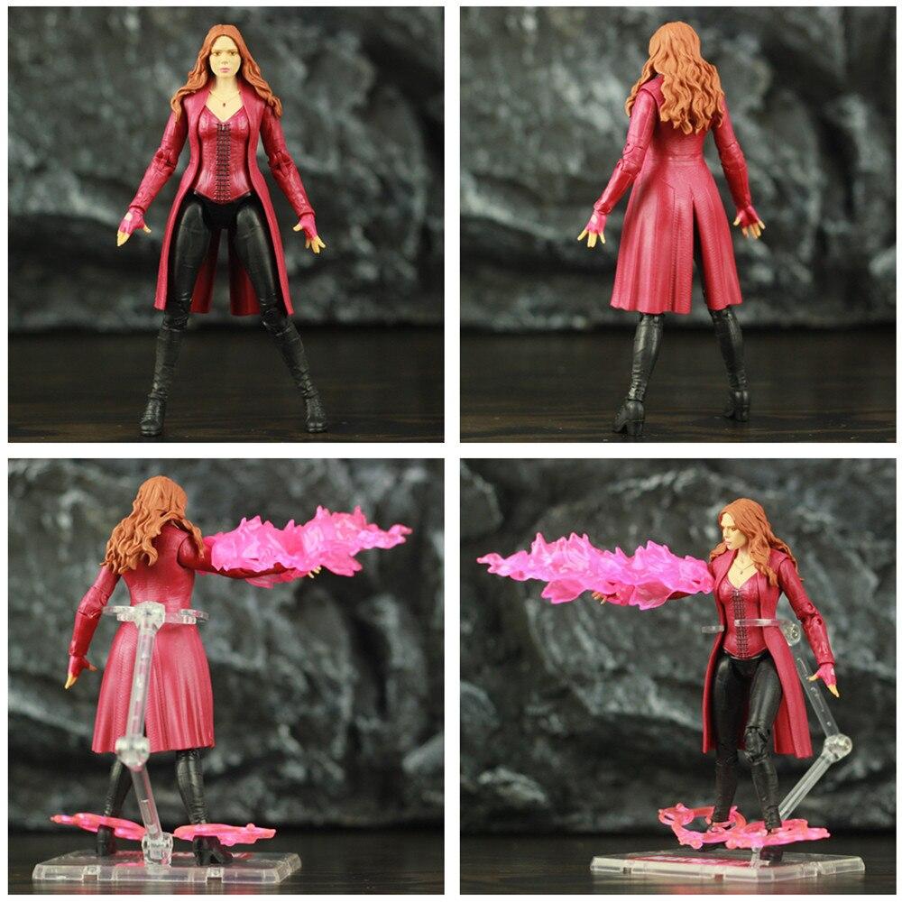 "Image 4 - Marvel Scarlet Witch 6"" Movie Action Figure Wanda Django Maximoff Heroines Avenger 4 Endgame Legends Toys Elizabeth Olsen DollAction & Toy Figures   -"