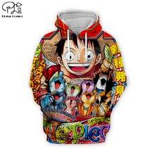 Men women One Piece Hoodies 3D Full print cartoon LUFFY autumn Sweatshirt Harajuku anime unisex zipper jacket pullover tshirt