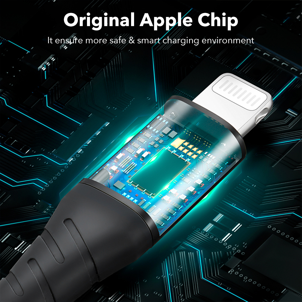 ESR USB C to Lightning MFi PD Charging Cable Nylon Braided - 2M Pakistan BrandTech.pk