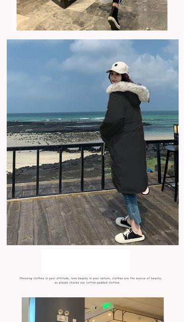 -30 Degrees Winter Women Long Parkas Jackets Plus Size M-5XL Thick Warm Big Fur Collar Female Slim Sintepon Parkas Outwear Coat 22