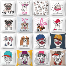 Hot sale funny cute many animal  patterns pillow cases square home creative color cover 45*45cm
