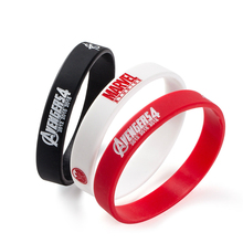 Friend Printed Letters Marvel The Avengers Silicone Sports Bracelets & Bangles  Fluorescent Rubber Fitness Wristband Bracelet
