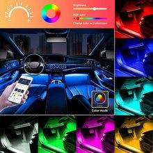 Интерьер автомобиля атмосфера ног полосы светильник декора 4x