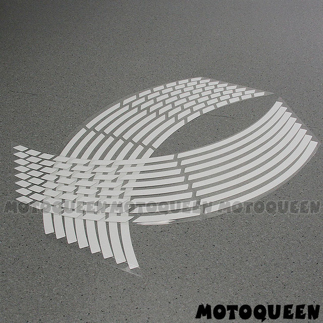 "16 PCS 17"" 18"" Rims Decals Motorcycle Car Wheels Reflective Stickers Stripes Motorbike For Honda Yamaha Kawasaki Suzuki benelli"